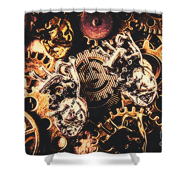 A Fiction In Machine Love Shower Curtain