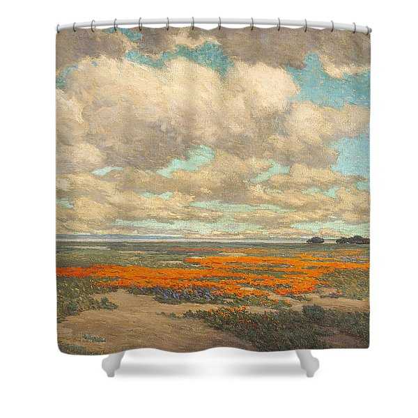 A Field Of California Poppies Shower Curtain