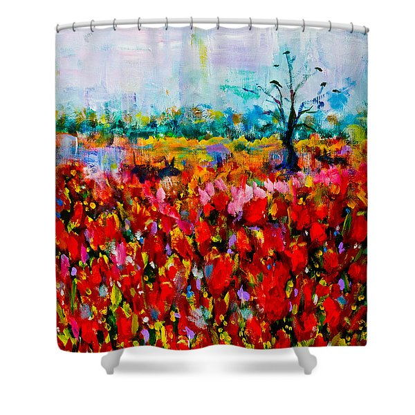 A Field Of Flowers # 2 Shower Curtain