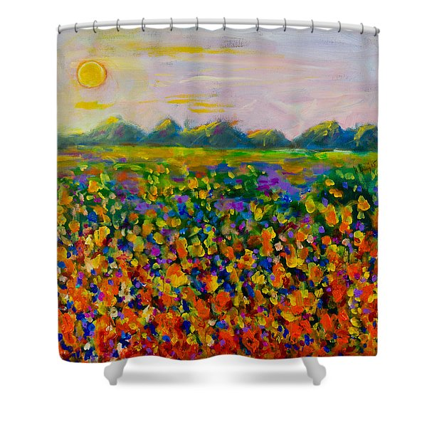 A Field Of Flowers #1 Shower Curtain