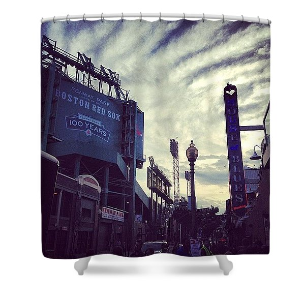A Fine Night Is Upon Us #beantown Shower Curtain