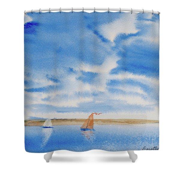 A Fine Sailing Breeze On The River Derwent Shower Curtain