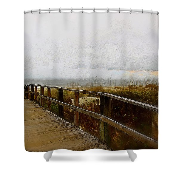 A Foggy Day Shower Curtain