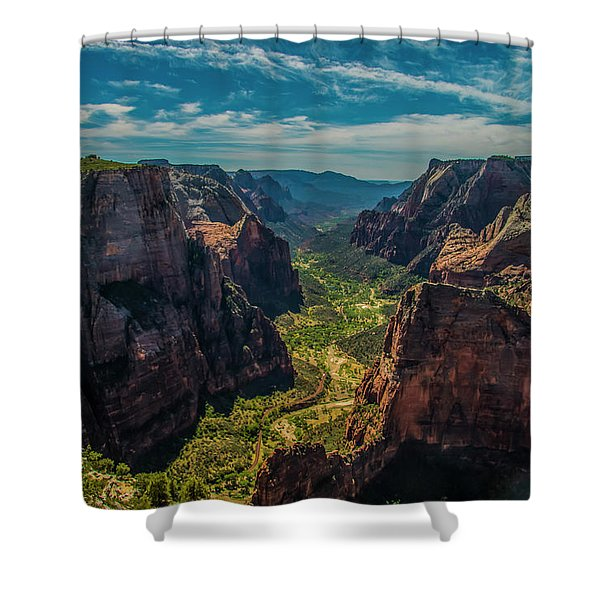A Forever View Shower Curtain