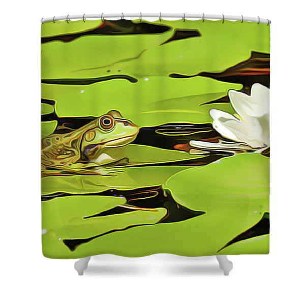 A Frog's Peace Shower Curtain