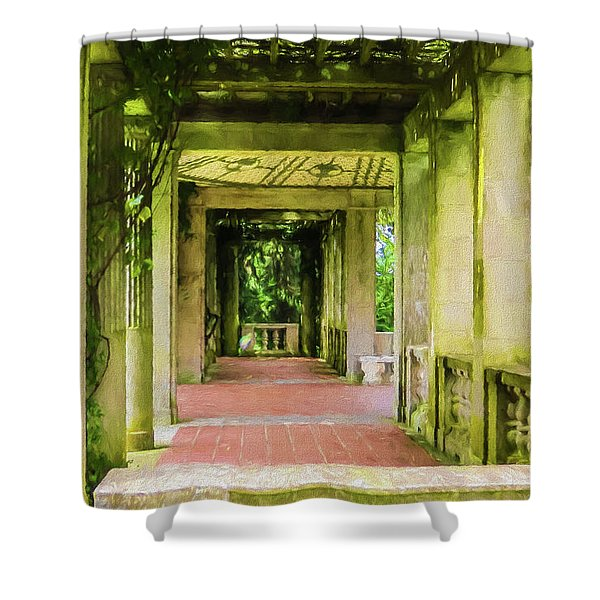 A Garden House Entryway. Shower Curtain