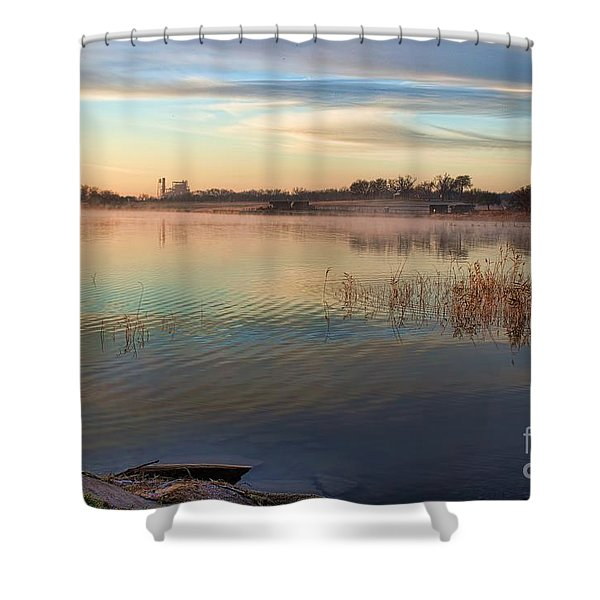 A Gentle Morning Shower Curtain