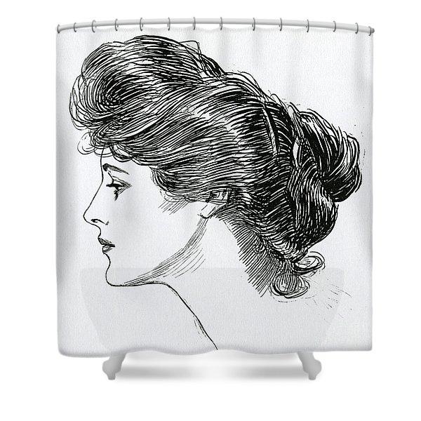A Gibson Girl, 1902 Shower Curtain
