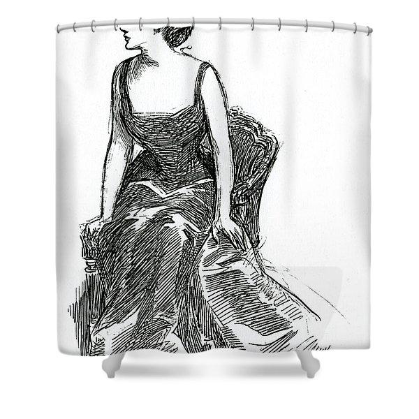 A Gibson Girl, C1902 Litho Shower Curtain