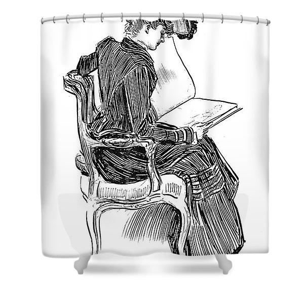A Gibson Girl, Circa 1902 Shower Curtain
