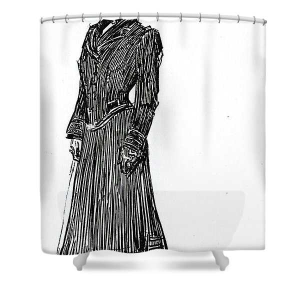A Gibson Girl In A Dress Shower Curtain