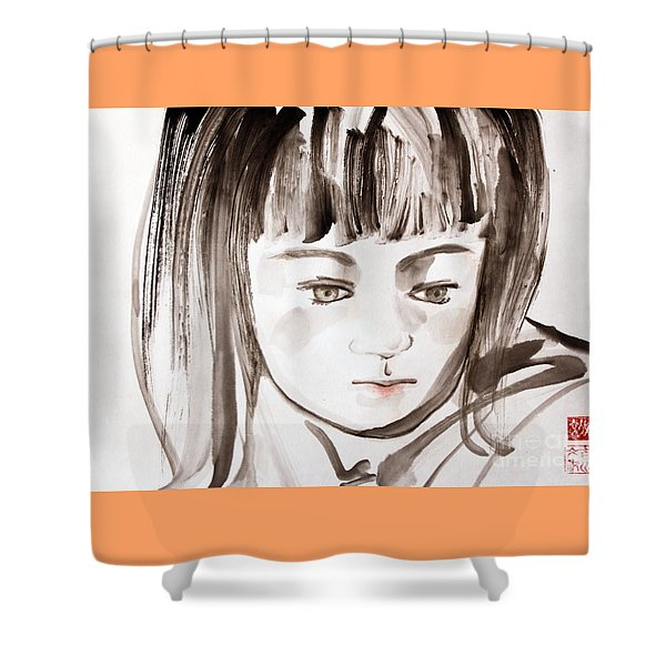 A Girl Shower Curtain