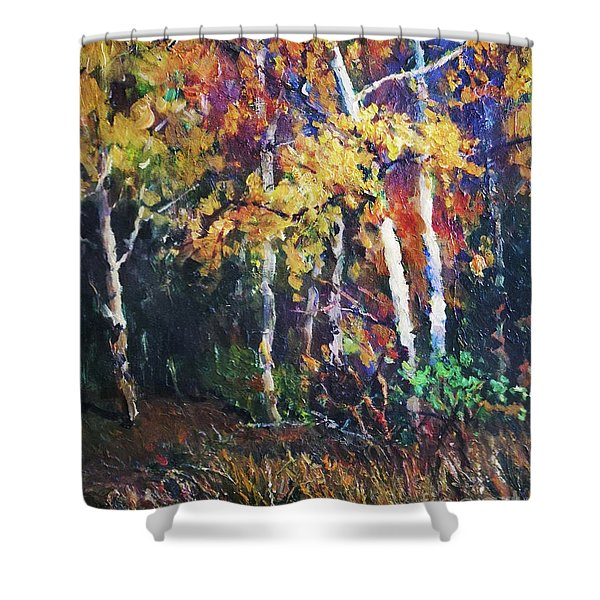 A Glance Of The Woods Shower Curtain