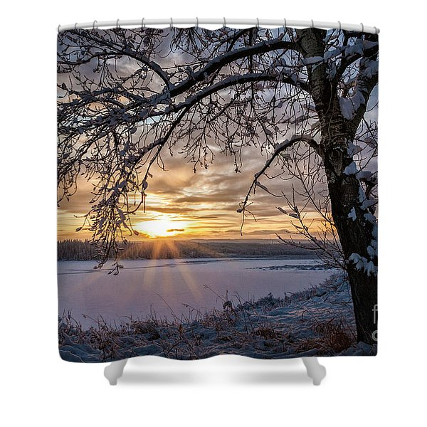 A Glenmore Sunset Shower Curtain