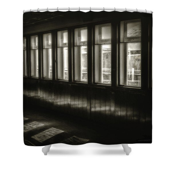A Glimps From The Dark Shower Curtain