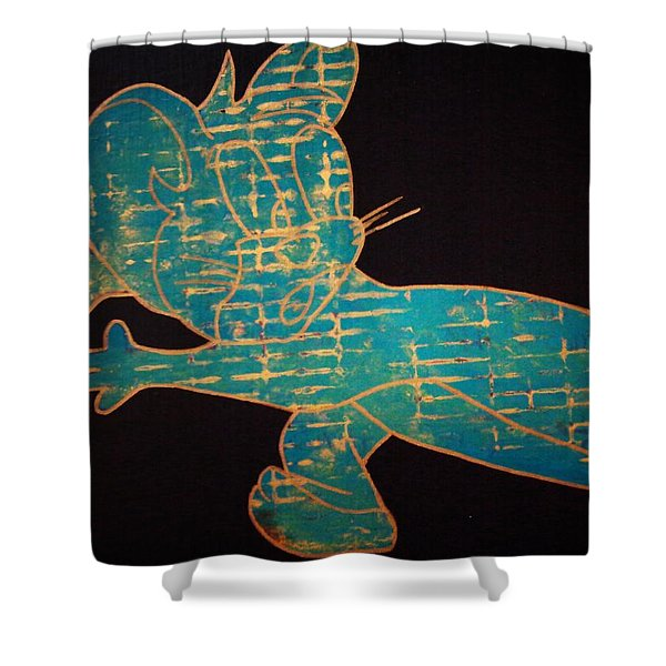 A Golden Touch Shower Curtain