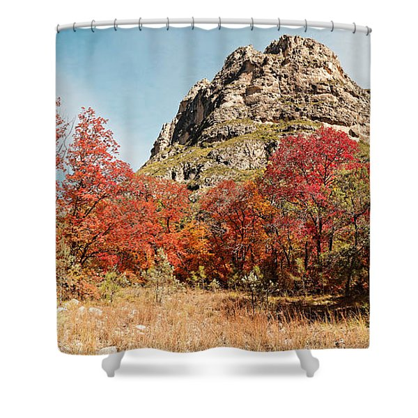 A Gorgeous Day For A Hike Deep In Mckittrick Canyon - Guadalupe Mountains National Park - West Texas Shower Curtain
