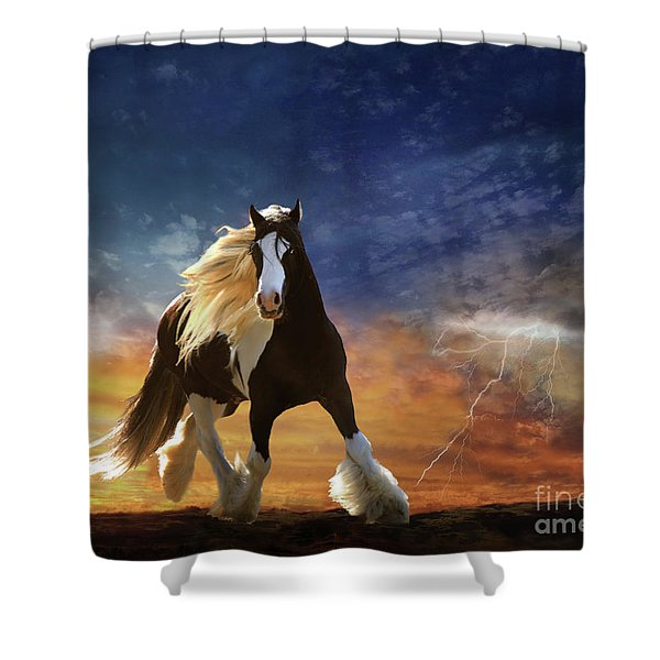 Shower Curtain featuring the digital art A Gypsy Storm by Melinda Hughes-Berland