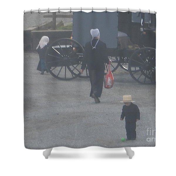 A Handful For Mom Shower Curtain