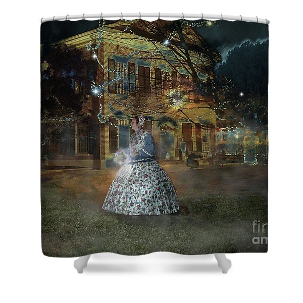 A Haunted Story In Dahlonega Shower Curtain