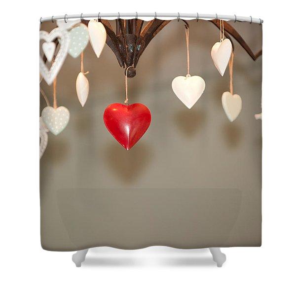 A Heart Among Hearts I Shower Curtain