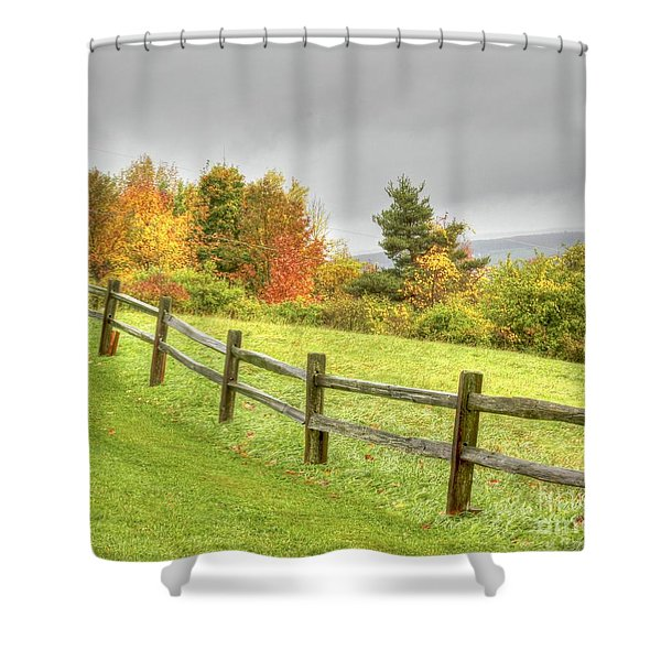 A Highland Forest Autumn Shower Curtain