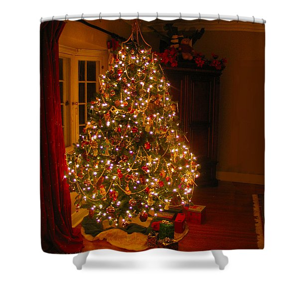 A Jewel Of A Christmas Tree Shower Curtain