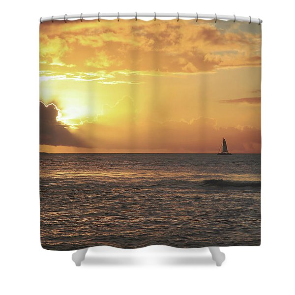A Journey's End Shower Curtain