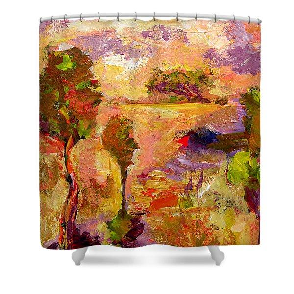 A Joyous Landscape Shower Curtain