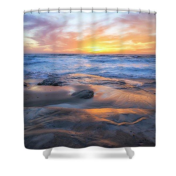 A La Jolla Sunset #1 Shower Curtain