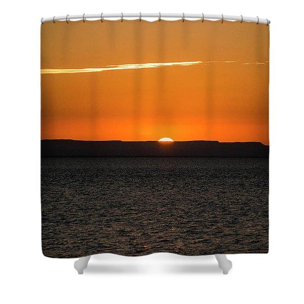 A La Paz Sunset Shower Curtain
