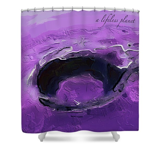 A Lifeless Planet Purple Shower Curtain
