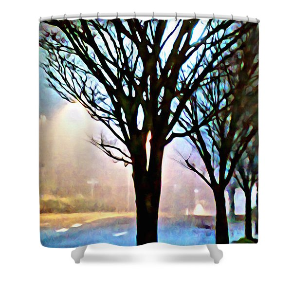 A Light Dusting Of Solitude Shower Curtain
