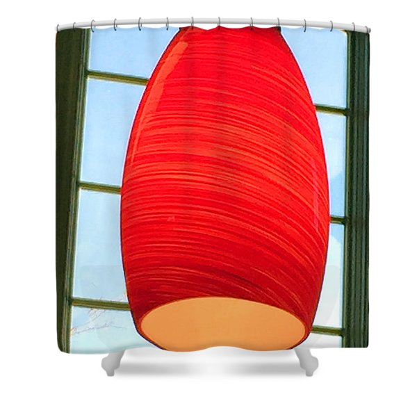 A Light On In Trhe Window Shower Curtain