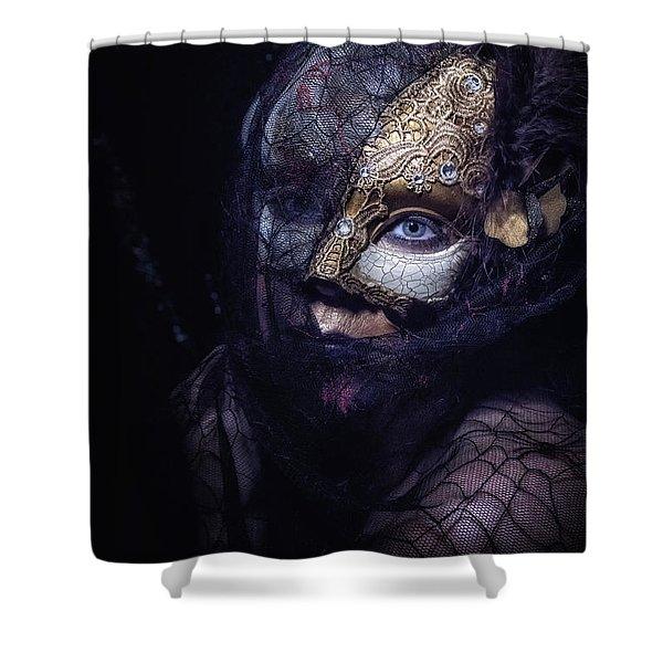 A Little Lace Shower Curtain
