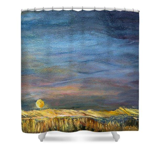 A Little Moon Magic Shower Curtain
