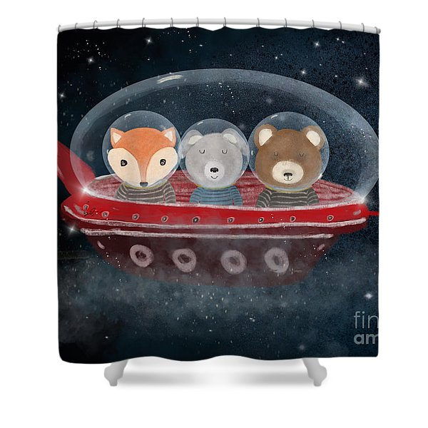 A Little Space Adventure Shower Curtain