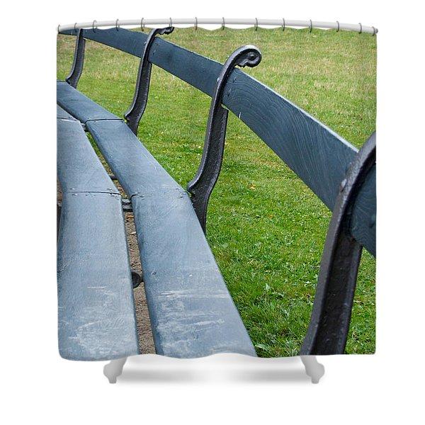 A Long Sit Down Shower Curtain
