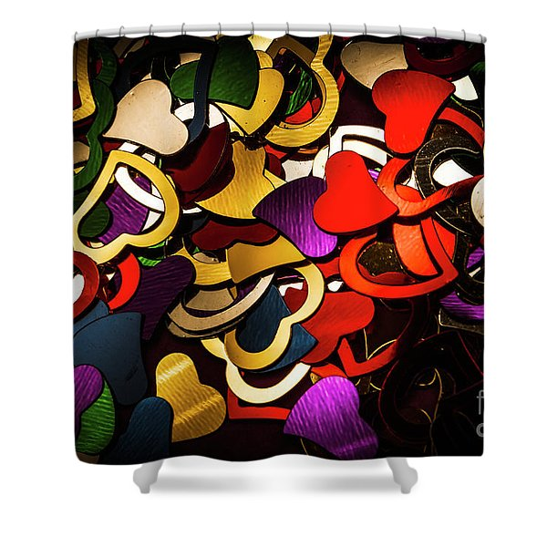 A Love Contrast Shower Curtain