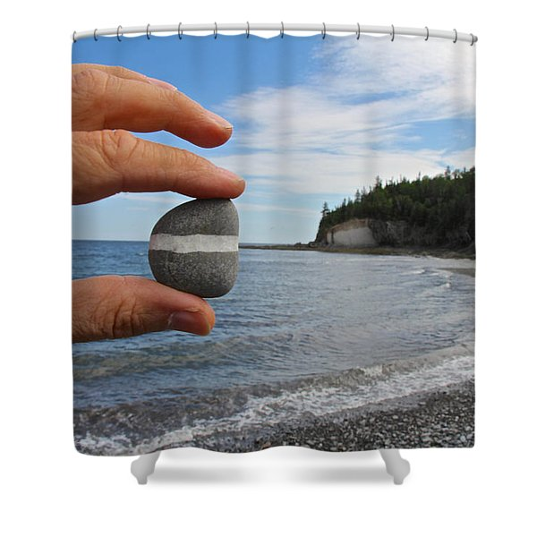 A Lucky Find Shower Curtain