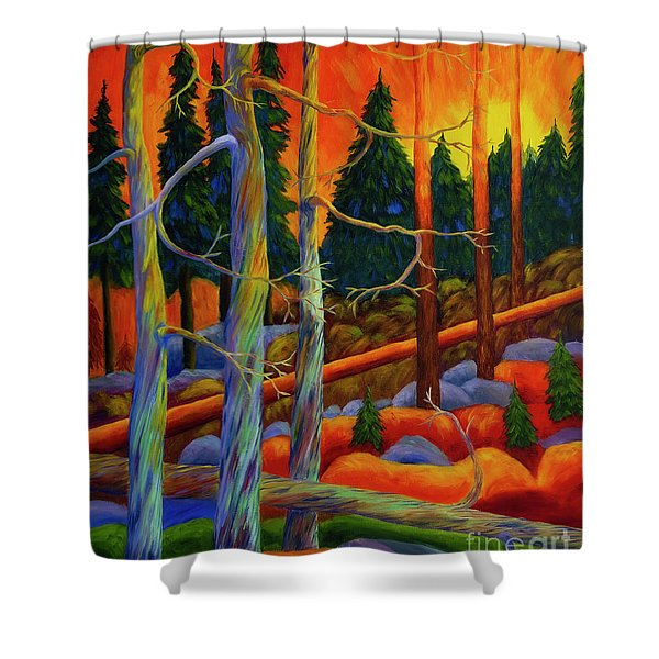 A Magical Forest 2 Shower Curtain