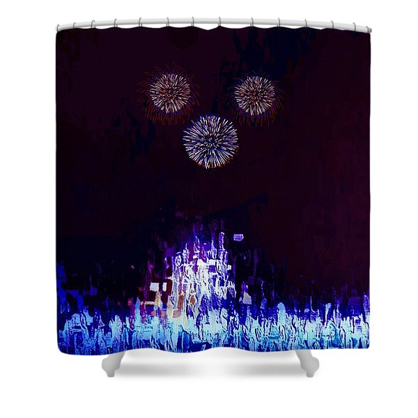Shower Curtain featuring the painting A Magical Night by Mark Taylor