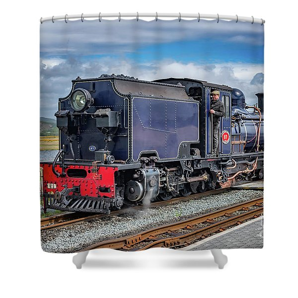 A Man And A Train  Shower Curtain