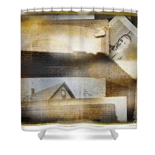 A Man's Story Shower Curtain