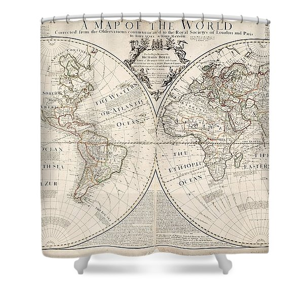 A Map Of The World Shower Curtain