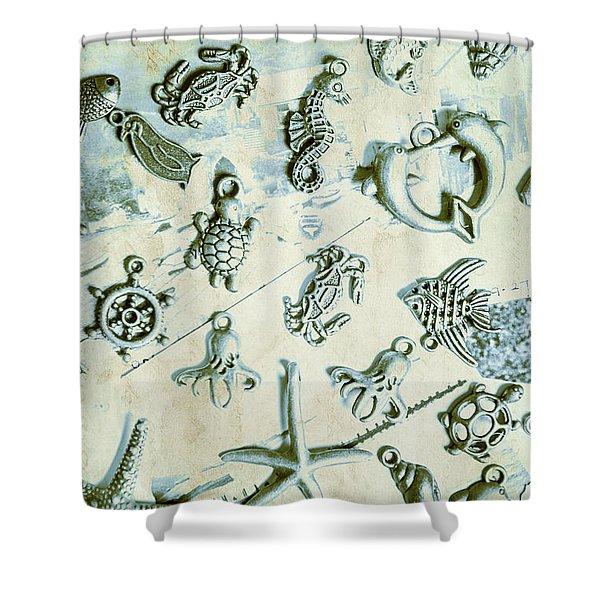 A Maritime Design Shower Curtain