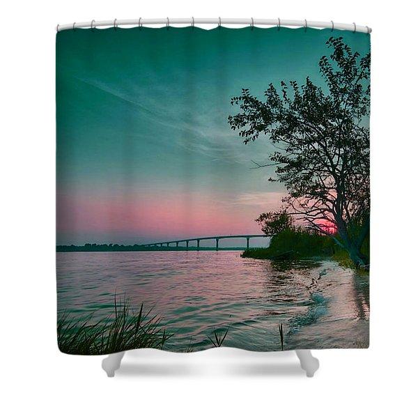 A Maryland Sunset Shower Curtain