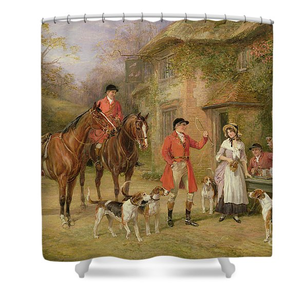 A Meeting At The Three Pigeons Shower Curtain