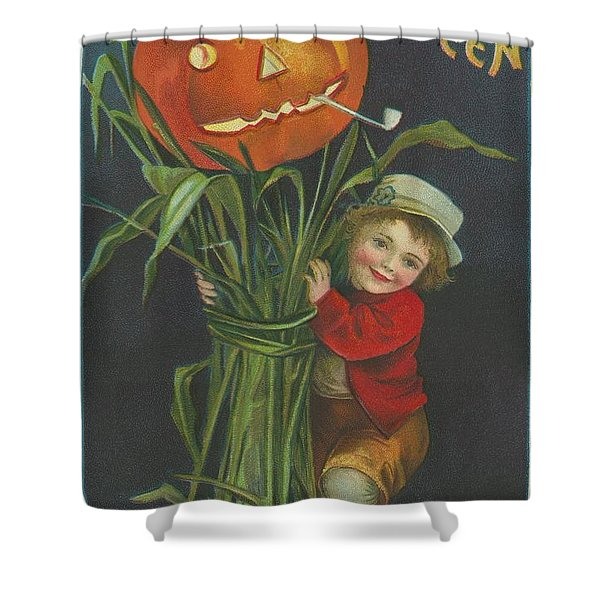 A Merry Halloween Shower Curtain