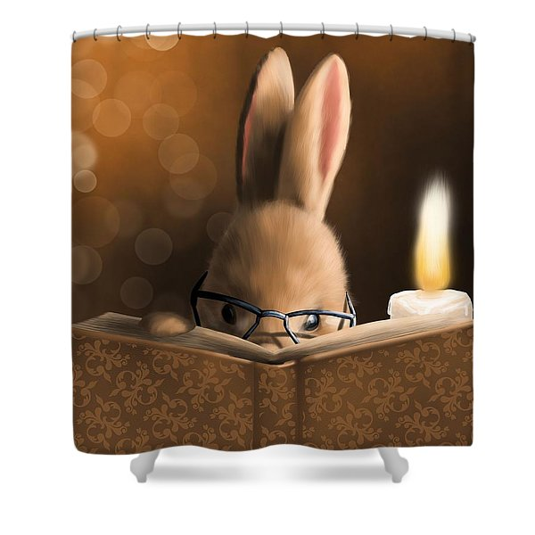A Mystery Story Shower Curtain